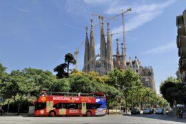 Private tour bus in Barcelona