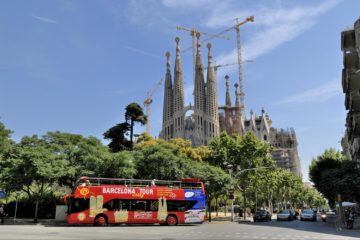 Private tour bus in Barcelona