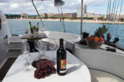 Set the mood on board a private catamaran in Barcelona