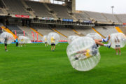 Play bubble football in Barcelona
