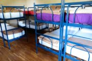 Bunk beds in a hostel in Barcelona