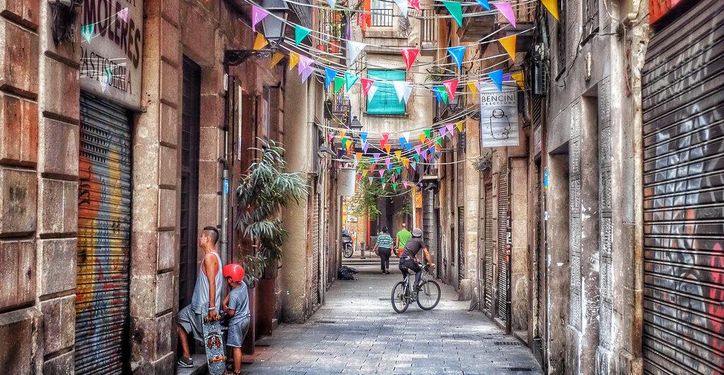 street parties in Barcelona in September