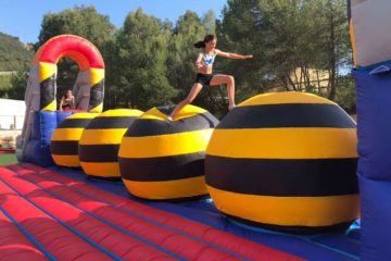 Total wipeout team building activity in Barcelona
