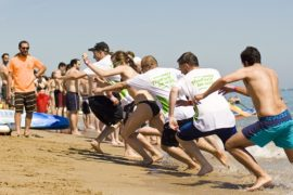 beach sports for team building groups