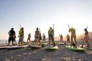Team building paddle surfing in Barcelona
