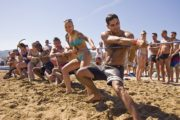 beach activities for team building events in Barcelona