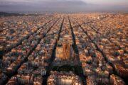 Gaudi tour birds eye view of Barcelona sagrada familia
