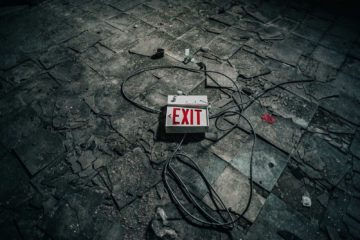 Exit sign for virtual escape room