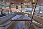 Table on deck boat